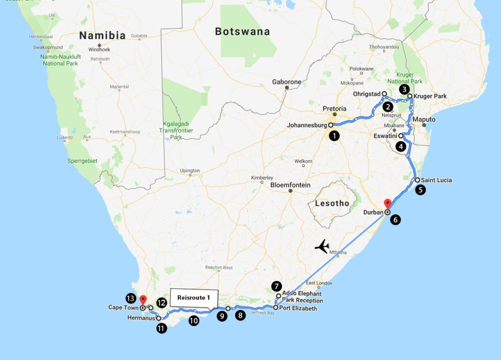De hoogtepunten van Zuid-Afrika in 3 weken