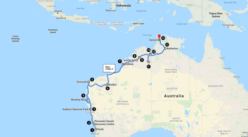 Van Perth naar Darwin in 3 á 4 weken