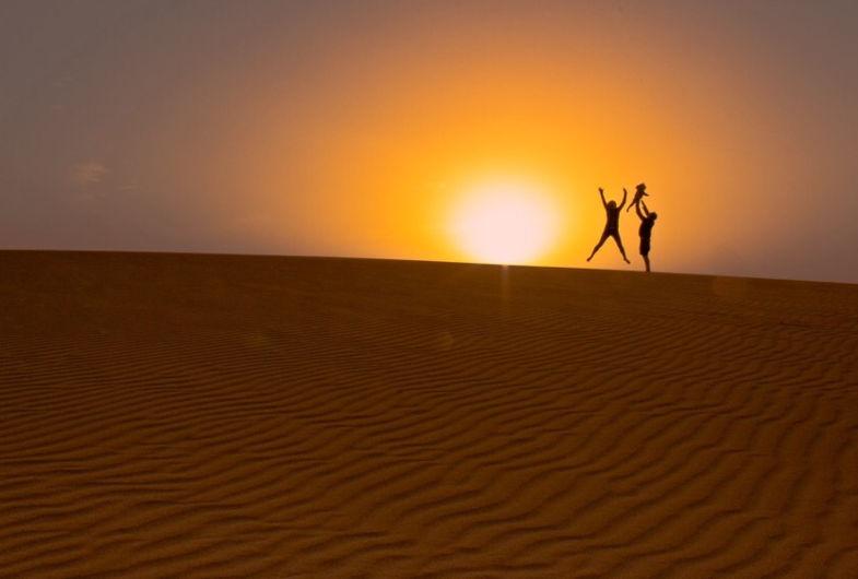 Family Sunset @ the desert