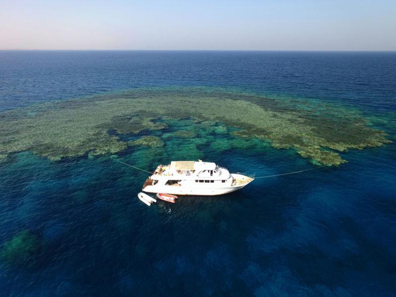 Dronie op de Rode Zee