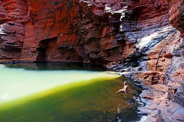 Zwemmen in Karijini National Park