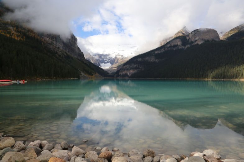 Waterspiegeling Lake Louise - Canada september 2016