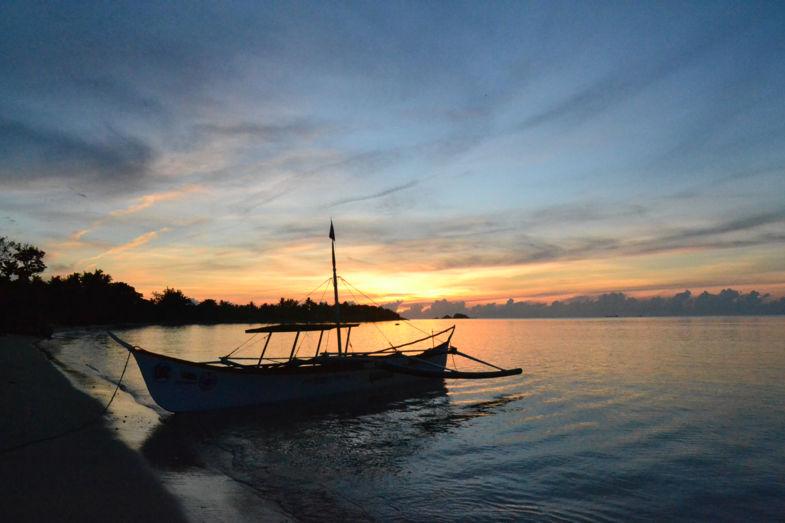 zonsondergang in pallaui