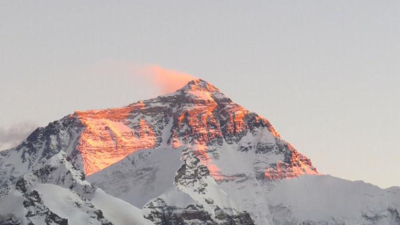 Sunset mount Everest