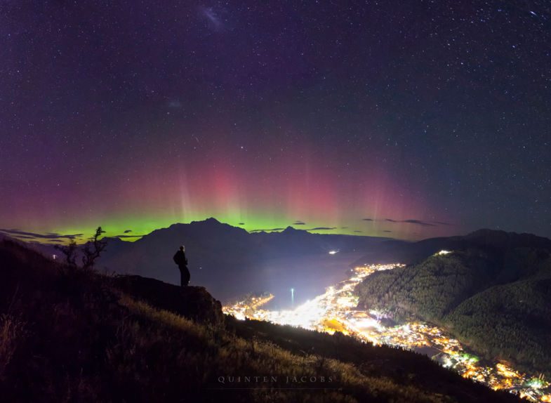 Southern Lights in Queenstown, New Zealand