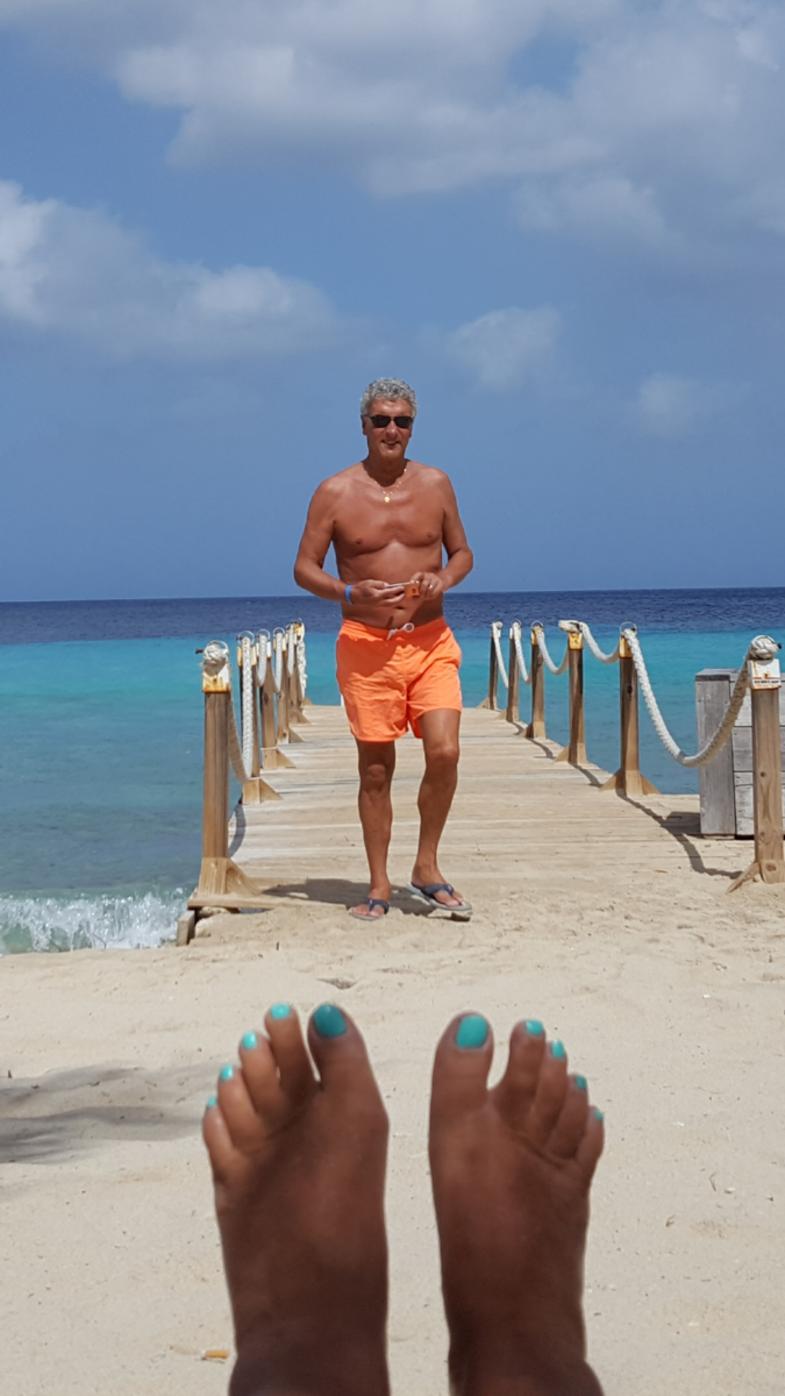 Zeemeerman bij Kokomo beach