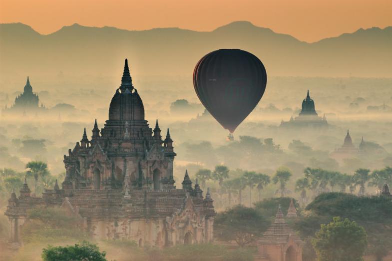 One magic burmese sunrise