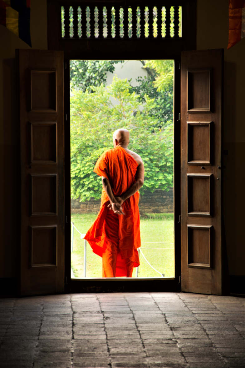 Monk in Kandy, Sri Lanka
