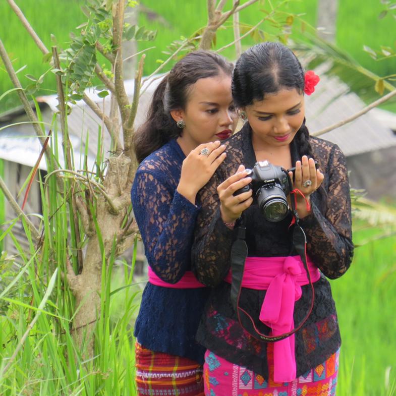 Fotografen gespot in de rijstvelden