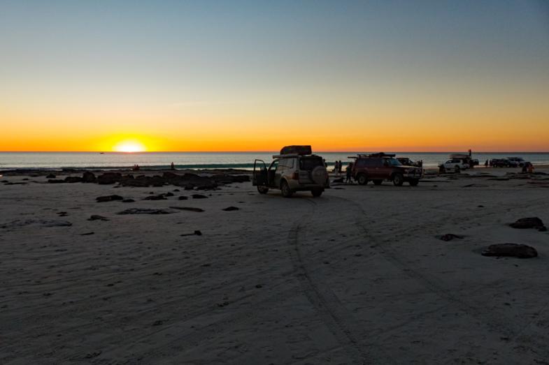 Met de 4WD op het strand van Broome
