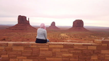 A beautiful moment @ Monument Valley