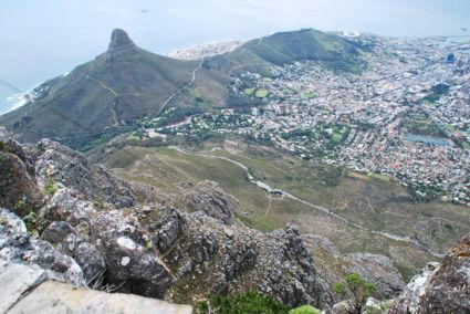 Kaapstad gezien van bovenop de Tafelberg 2014