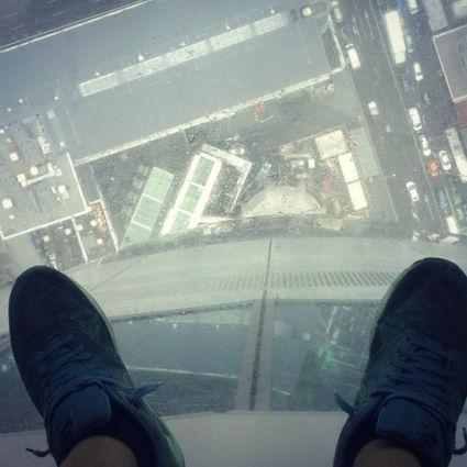Foto is genomen vanaf de Skytower staande op 38mm glasdikte!