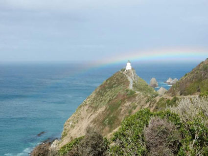 Rainbow & lighthouse