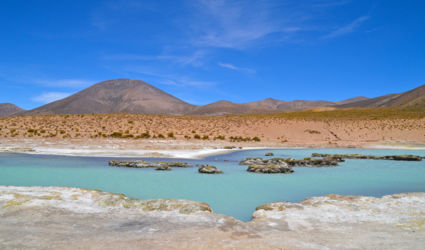 Warm zwavel bad in Lauca national park