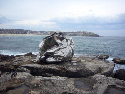 Kunstzinnig zicht op Bondi-Beach, Australia