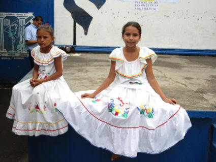 Schoolkinderen in Granada