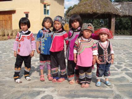 kinderen in Yunnan