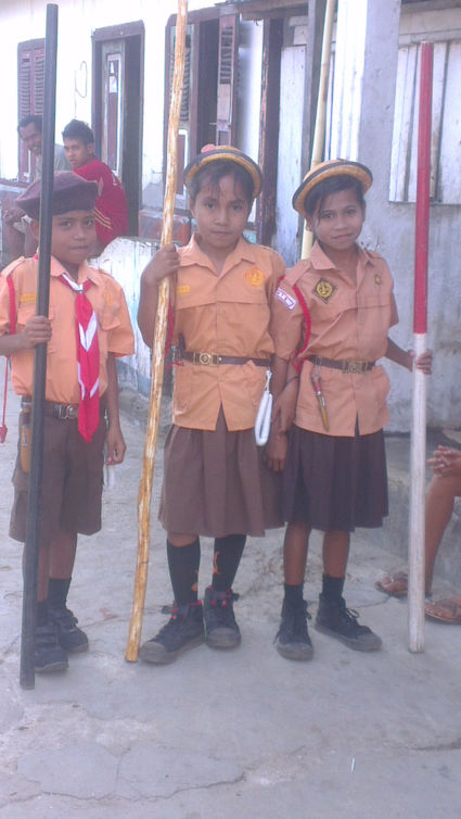 Schoolkinderen Tanimbar Indonesie
