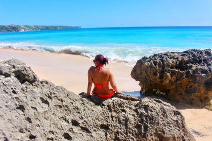 My girl in Dreamland Beach, Bali