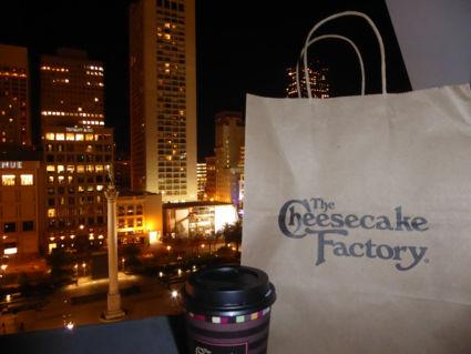 Hhhhmmm cheesecake bij Macys op Union Square
