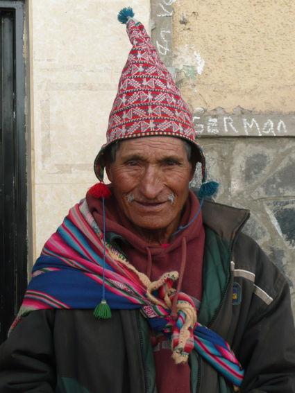 Vrolijk gemutste Peruaan