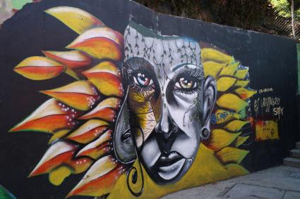 Streetart in Comuna 13, Medellin Colombia