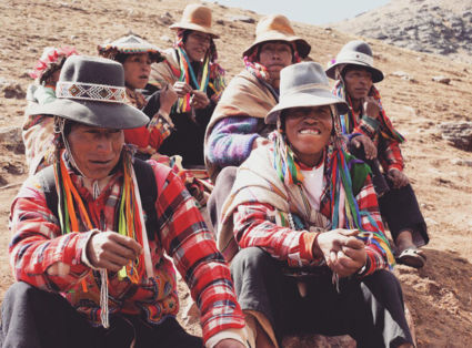 Horsemen in the mountains of Peru