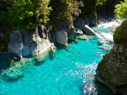 Blue Pools, Haast Pass, Zuidereiland, Nieuw Zeeland