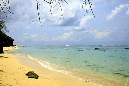 Serene rust in de buurt van Pantai Balangan