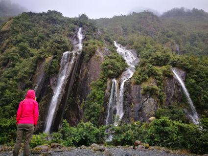 Watervallen bij Franz Josef gletsjers NZ