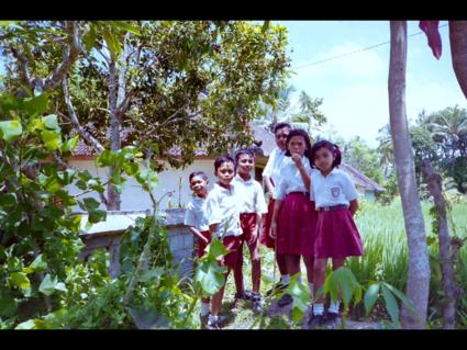 Schoolkinderen op Java in 1995