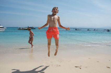 Zo blij met zand en water