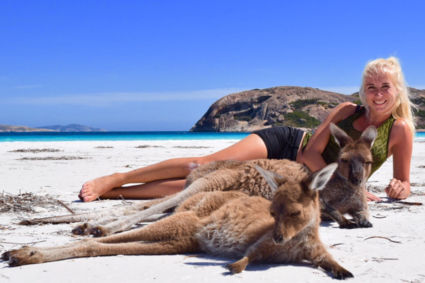 Relaxen met de kangoeroes op het strand in Australie!