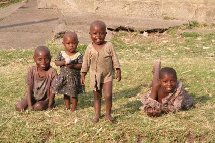 Vrolijkheid in de Rwenzori Mountains