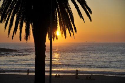 Zonsondergang Camps Bay, Kaapstad