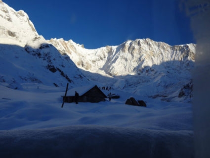 SUNRISE at ANNAPURNA BASECAMP, Nepal, 4.130 m!