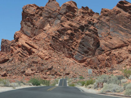 Zinderende hitte in Valley of Fire State Park, Nevada, USA
