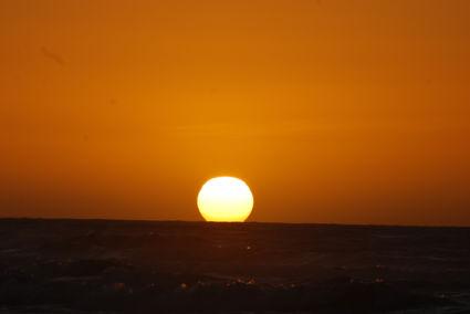 Zonsondergang aan de westkust van zuider eiland nabij Hokitika :-)