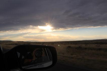 Onweer op komst, opweg naar Cody om te overnachten vlak voor Yellowstone NP Amerika