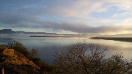 Zuid-Afrika prachtige zonsopkomst tussen Graaff-Reinet en Camdeboo Nat Park