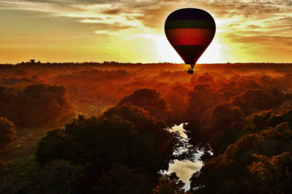 Ballonvaren in Hoedspruit
