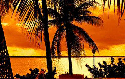 Sunset op Bonaire