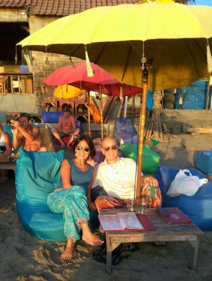 Lekker relaxen en genieten van de ondergaande zon in Seminyak