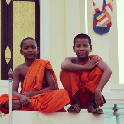Prachtig portret in cambodja