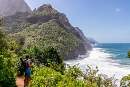Kauai, Kalalau trail. Wind in je haar en adembenemende uitzichten