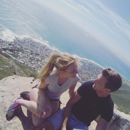 Top van tafelberg in Kaapstad bereikt na een superlastige hike!