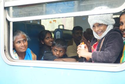 De lach uit een passerende trein