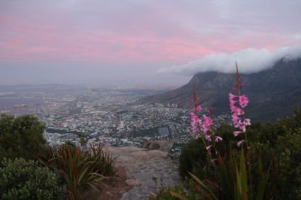 Sunset vanaf Lionshead met uitzicht op Tafelberg