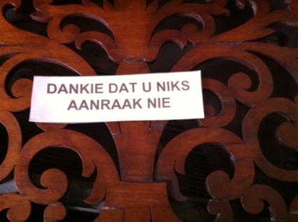 Mooie Zuid Afrikaanse taal